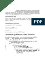 Adapt Selection Guide FAQ