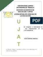 tema 14 LA EDUCACIÓN INDÍGENA E INTERCULTURAL EN MÉXICO Y SUS IMPLICACIONES EN LA CONSTRUCCIÓN DE CIUDADANÍAS