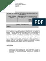 Informe Del Estado Del Sistema de Control Intrno