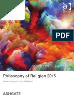 Philosophy of Religion 2015