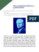 Zbigniew Brzezinski- La Decadencia de EE.uu. y El Fin Del Imperio Estadounidense