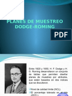 Planes de Muestreo Dodge-roming