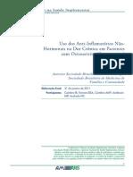 Uso Dos Anti-Inflamatorios Não Hormonais Na Dor Crônica Em Pacientes Com Osteoartrite (Osteoartrose)