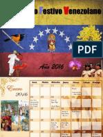 Calendario 2016 Festivo Venezolano