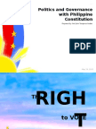 The Politics and Governance With Philippine Constitution (Suffrage)
