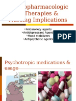 4 Psychopharmacological Therapies & Nursing Implications
