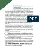 Es Posible Prevenir La Trata de Personas en El Perú