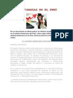 Las Finanzas en El Peru