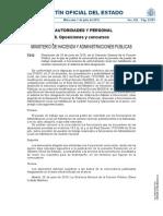 Resolución de 25 de junio de 2015, de la Dirección General de la Función Pública, por la que se publica la convocatoria para la provisión de puesto de trabajo reservado a funcionarios de administración local con habilitación de carácter nacional por el sistema de libre designación.