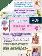 Manejo Odontologico en Paciente Hipertenso - Mariana