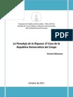 La Paradoja de La Riqueza. Republica Del Congo