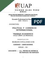 TRABAJO ACADEMICO POLITICA Y COMERCIO INTERNACIONAL.doc