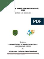 Inflasi Dan Gini Ratio Kab. Subang 2012