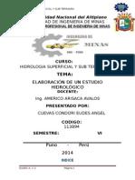 ELABORACIÓN DE UN ESTUDIO HIDROLÓGICO DE LA CUENCA DEL RIO YAUCA