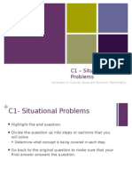 cst math 2015 - day 10 - situational problems (2)