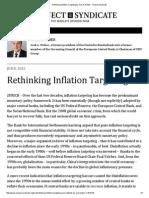 Rethinking Inflation Targeting