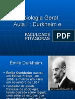 Unid III Aula I Durkhein