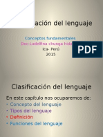 Clasificación Del Lenguaje