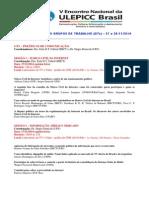 Programação GTs ULEPICC Brasil