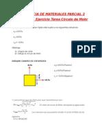 RM P2 Actividad 11 Ejercicio Tarea Circulo de Mohr