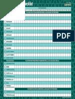 Ramadhaan Daily Check List