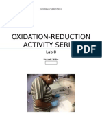 Lab 8 Oxidation- Reduction Reactions