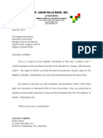Letter of Extension