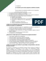 foro 3 Evaluacion de programas academicos