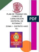 Plan de Trabajo Del Comité de Capacitación Distrital de Rotaract