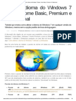 Mude o Idioma Do Windows 7 Starter, Home Basic, Premium e Professional