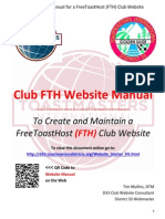 Toastmaster Clubs FreeToastHost (FTH) Website Manual