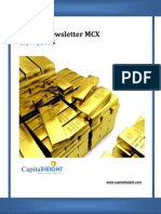 Weekly Mcx Trading Report for Commodity Market by CapitalHeight