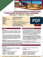4to Curso Proyectos de Inversion Morote 2015