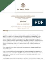 Discurso Papa Francisco 11-07-2015 Homilia Caacupe