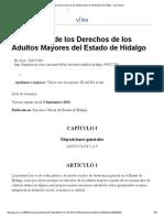 Ley de Los Derechos de Los Adultos Mayores Del Estado de Hidalgo - VLex Global