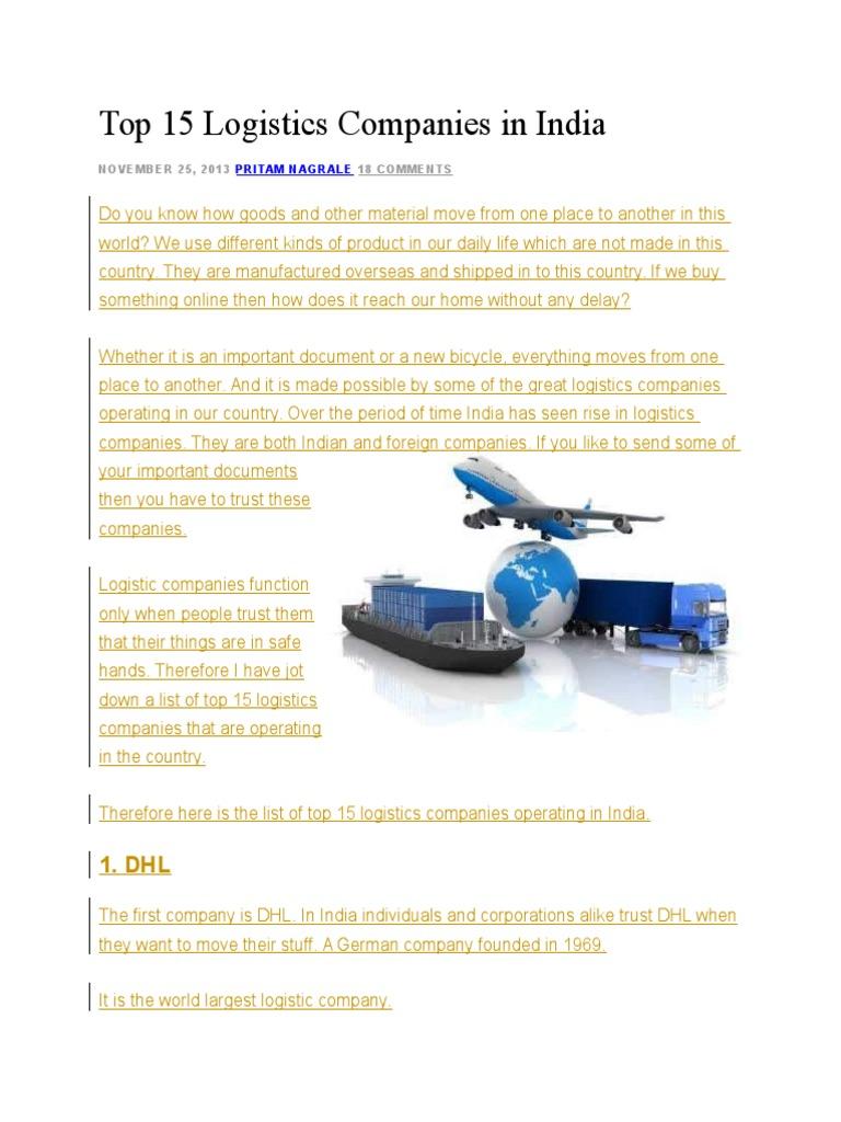 Top 15 Logistics Companies in India   United Parcel Service