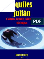 CÓMO TENER SIEMPRE TIEMPO, POR AQUILES JULIÁN