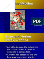 Time and Motion B