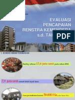 1. Evaluasi Pencapaian Renstra Kemenpera s.d. Tahun 2013