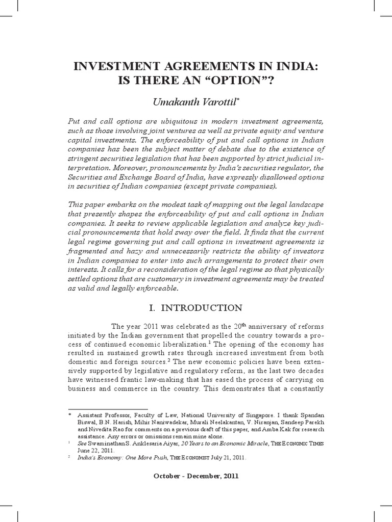 Article on investment agreements in india derivative finance article on investment agreements in india derivative finance option finance platinumwayz