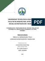 CONSERVACIÓN Y RESTAURACIÓN DE PINTURA TABULAR