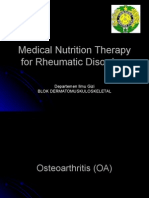 Medical Nutrition Therapy for Rheumatic Disorders