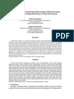 Analisis Beban Kerja Sumber Daya Manusia Dalam Aktivitas Produksi