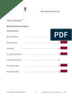 WFT-Wholesale Product List