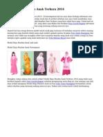 Model Baju Muslim Anak Terbaru 2014