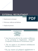 External Recruitment
