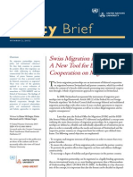 Policy Brief Swiss Migration Partnerships a New Tool for Bilateral Cooperation on Migration