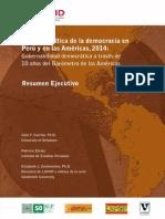 Barometro Americas 2014 Resumen Peru