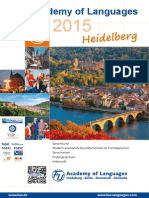 Deutsch Flyer FuU Academy of Languages Heidelberg