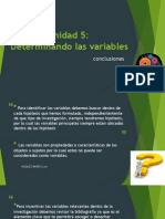 Determinando las variables